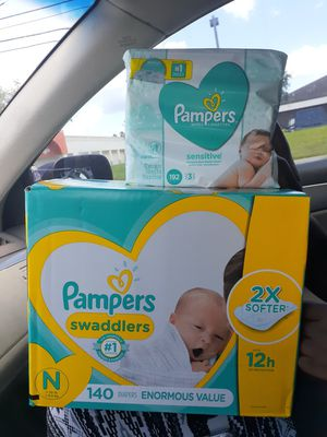 Pampers Swaddlers and wipes for Sale in Orlando, FL