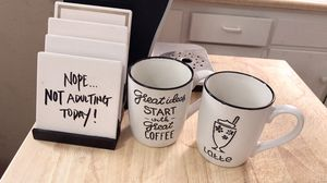 Coffee Mugs + Coasters for Sale in Wichita, KS