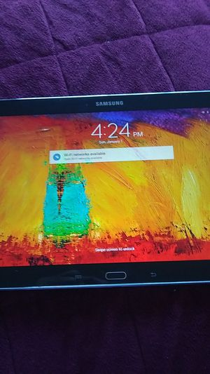 Samsung tablet like new no password no cracks on screen for Sale in Santa Cruz, CA