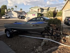 12 ft. Boat, 7.5hp Motor and trailer for Sale in Las Vegas, NV
