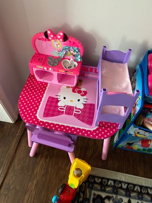 Hello kitty chair and table for $30 for Sale in VA, US
