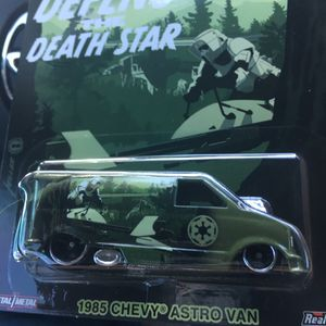 Hot wheels Star Wars 85 Chevy Astro van drag racing collectible die cast toy car $15 obo trade Hotwheels honda Mazda Nissan datsun Civic crx integra for Sale in Colton, CA