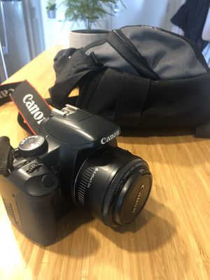 Canon Rebel XSI w/ canon lens ef 50mm f/1.8 ii for Sale in Seattle, WA