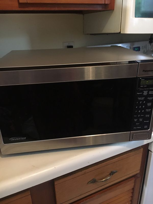 Stainless steel 1300w microwave