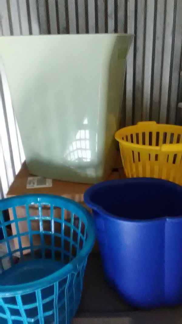 Baskets and trash cans