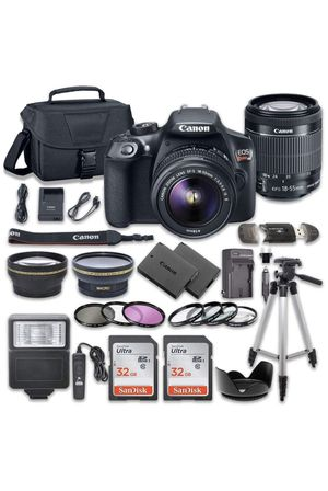 Canon EOS Rebel T6 DSLR Camera Bundle with Canon EF-S 18-55mm f/3.5-5.6 is II Lens + 2pc SanDisk 32GB Memory Cards + Premium Accessory Kit for Sale in Fullerton, CA