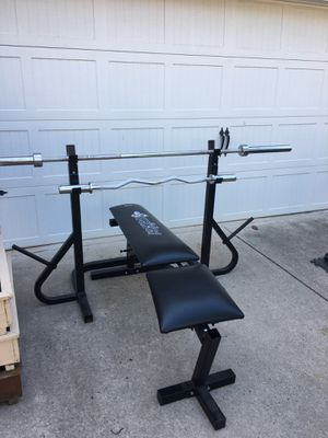 Weider Weight Bench and Weights for Sale in Cumming, GA