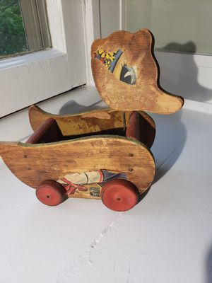 Vintage wooden pull toy Fisher Price for Sale in Brazil, IN