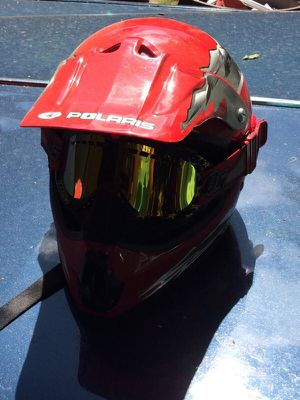 Polaris helmet with goggles for Sale in Vancouver, WA
