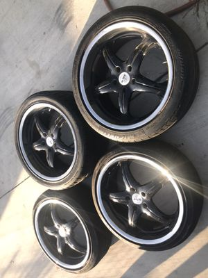 Rims for sale. Tires are just bonus. 225 in the front and 245 in the back staggered for Sale in Los Angeles, CA