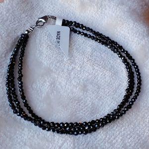 🎁 New Black Spinel Crystal 3 strand bracelet for Sale in Pompano Beach, FL