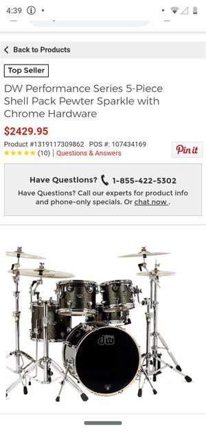 Evans g2 drum set plain black 5 piece drums for Sale in Portland, OR