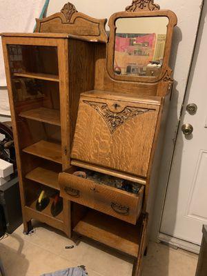 Antique desk cabinet for Sale in Tampa, FL