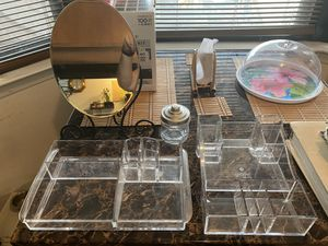 Makeup & accessory holders with IKEA mirror for Sale in Dallas, TX
