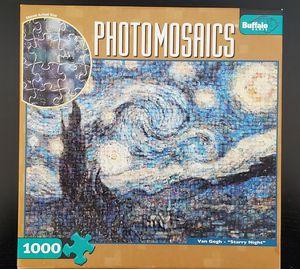 "Buffalo Games PhotoMosaics - Van Gogh ""Starry Night"" 1000 piece puzzle for Sale in Artesia, CA"