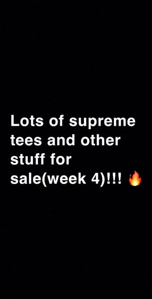 Lots of supreme items, each picture says the item name, color and size for Sale in Bothell, WA