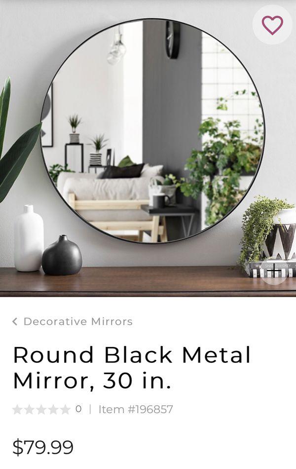 Mirror round 30 inches