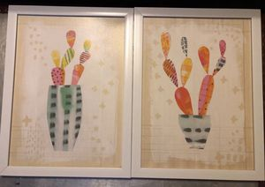 (Set of 2) cactus wall art for Sale in Boonville, MO