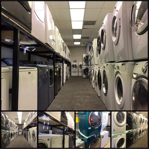 """GE Front load washer and dryer set electric stackable 27"""" w for Sale in Dundalk, MD"""
