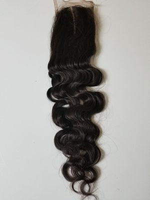 16 Brazilian human hair lace closure natural wave middle part for Sale in Lanham, MD