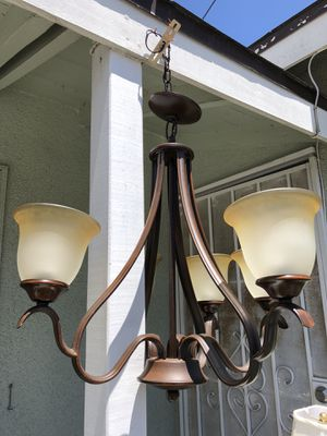 Pottery Barn Brown 4 head Light Fixture for Sale in Los Angeles, CA