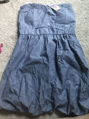 Blue strapless dress medium NWT for Sale in Powell, OH