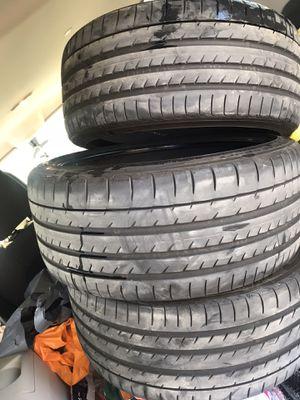 Yokohama Advan tires 245/35/19 set of four lots of thread for Sale in Delano, CA