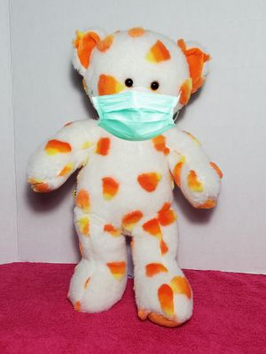 "16"" Build A Bear Candy Corn Plush Teddy Halloween White & Orange Stuffed BABW for Sale in Dale, TX"