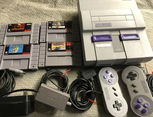 Super Nintendo System with Games for Sale in Fresno, CA