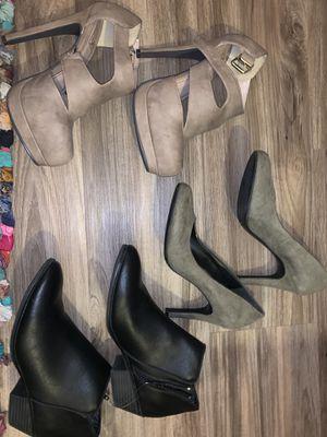 Heels & Boots shoe Bundle 3 pcs for Sale in Las Vegas, NV