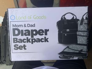 Lands Of Good Mom&Dad Diaper Bag Set! for Sale in Wilmington, NC