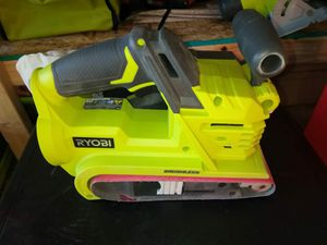 BELT SANDER CORDLESS BATTERY NOT INCLUDED RYOBI for Sale in Phoenix, AZ