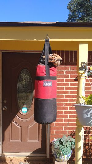 Punching bag baseball and glove kids for Sale in Euless, TX