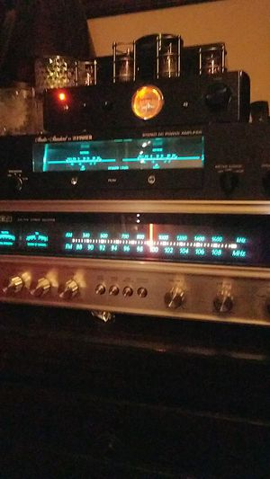Rare ! Vintage Fisher DC Model BA-3000 2 channel stereo power amp, AND a vintage fisher 2 channel stereo reciever Model 143-92532700 for Sale in Tacoma, WA