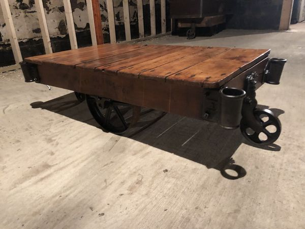 Early Antique Factory Cart