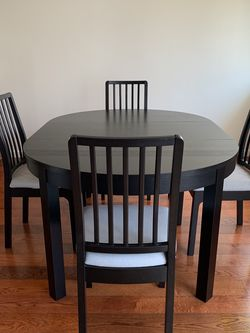 IKEA Bjursta Expandable Kitchen Table & 4 Ekedalen Chairs for Sale in Redondo Beach,  CA