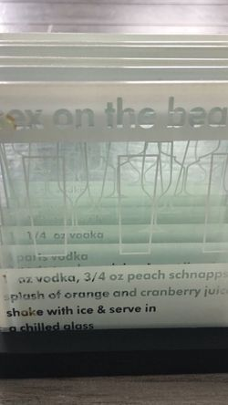 Drinks Recipe Glass Coaster Set for Sale in Secaucus,  NJ
