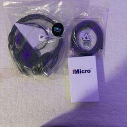 SET OF 3 Imicro Headphones, Mouse And Patch Cable- $30 ALL THREE- NEW for Sale in Tacoma,  WA