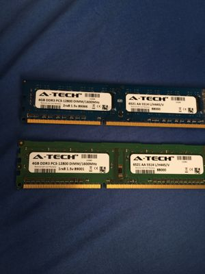 DDR3 8GB 2x4GB 1600Hhz for Sale in Moorhead, MN