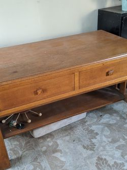 1920s Oak Library Table That Unfolds Into A Bed for Sale in Los Angeles,  CA