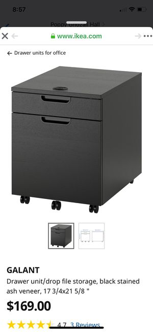 Black Lockable Filing Cabinet for Sale in Boston, MA