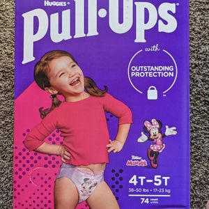 Pull Ups Size 4-5t Girl Medium Box 74 Counts for Sale in Paramount, CA