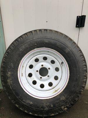 Trailer tire and rim. 7 x 15 LT for Sale in Marysville, WA