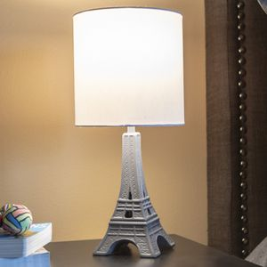 Your Zone Kids Polyresin Paris Table Lamp, Gray Finish for Sale in Houston, TX