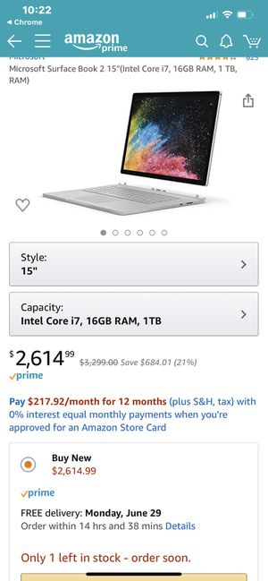Microsoft Surface Book 2 Platinum I7 16gb 1tb for Sale in The Colony, TX