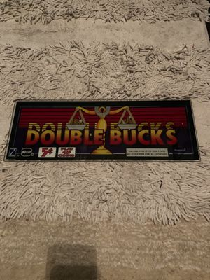 Double Bucks Slot Machine Sign Casino for Sale in Las Vegas, NV