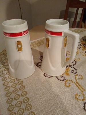 Budweiser beer mugs 1965 vintage for Sale in NEW PRT RCHY, FL