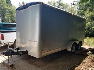 2005 7x16 haulmark silver edition enclosed trailer for Sale in Brush Prairie, WA