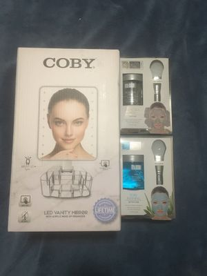 Coby make up mirror & face masks! for Sale in Chicago, IL