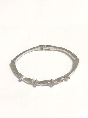 Sterling Silver Bracelet / Purple CZ for Sale in Las Vegas, NV